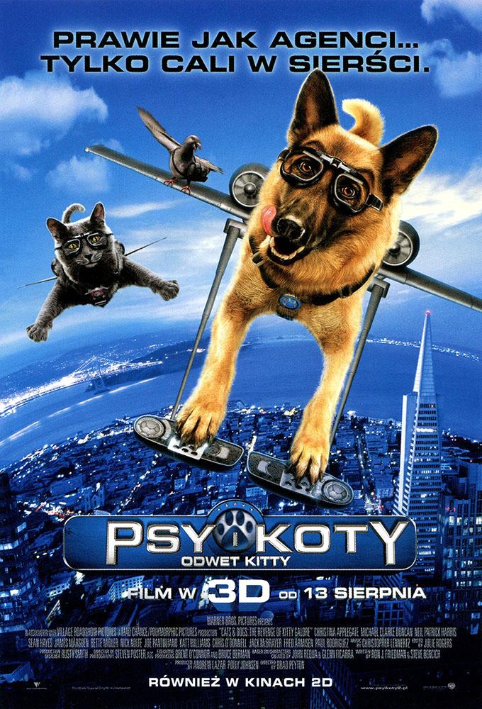 Ulotka filmu 'Psy i Koty: Odwet Kitty (przód)'