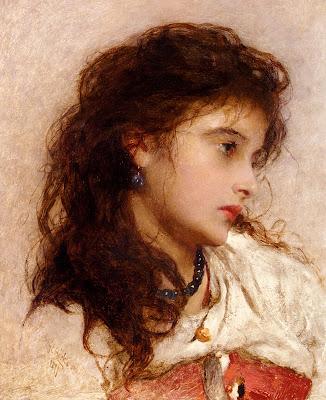 George Elgar Hicks - A Gypsy Girl