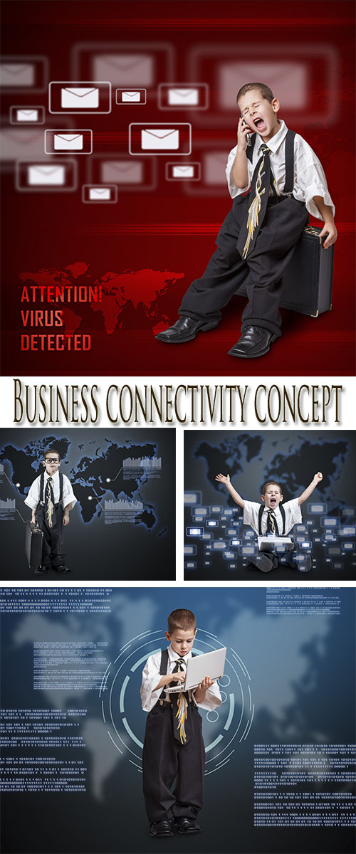 Stock Photo: Business connectivity concept