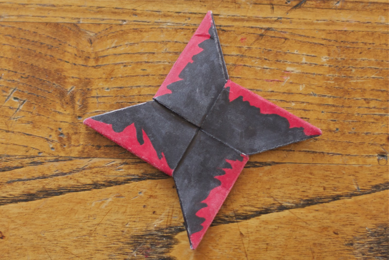 How To Make A Paper Ninja Throwing Star