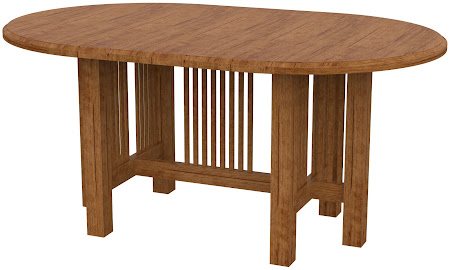 Vail Round Conference Table in Calhoun Maple