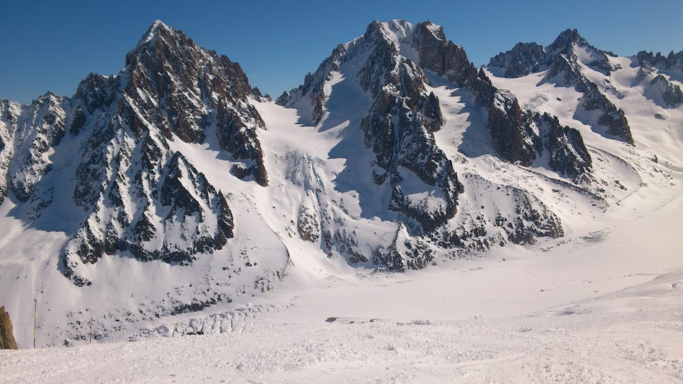Směr Col du Chardonnet 3.323 m n.m.