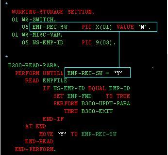 COBOL LEVEL 88 CONDITION