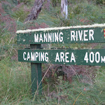 Sign post to Manning River camping area