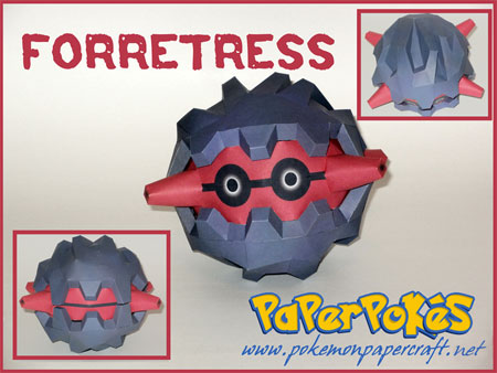 Pokemon Forretress Papercraft