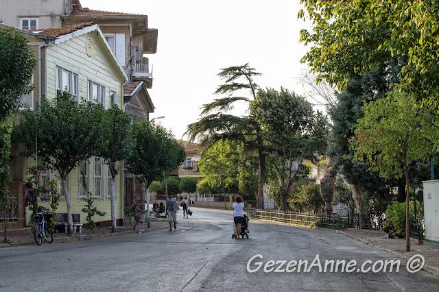 Heybeliada sokaklarında yürürken