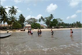 El ''Desembarco'' en la playa de Carabane
