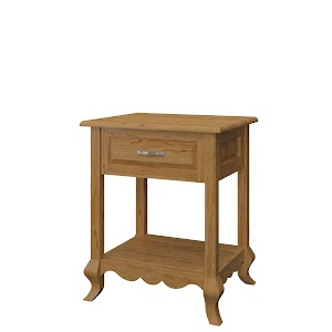 orleans nightstand with shelf
