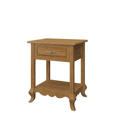 Orleans Nightstand with Shelf, Classical Maple
