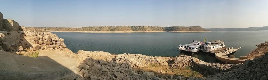 Panoramic view of the Nagajuna Konda jetty
