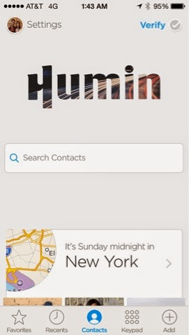 iPhone Basic Phone Revamped with Humin App