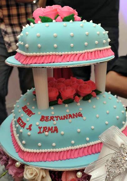 gambar kek bertunang irma dan reza