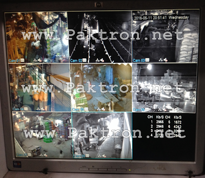8 Channel CCTV System Display Paktron Pakistan