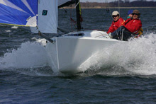 J/70 sailing fast with spinnaker