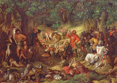 Daniel Maclise - Robin Hood and His Merry Men Entertaining Richard the Lionheart in Sherwood Forest