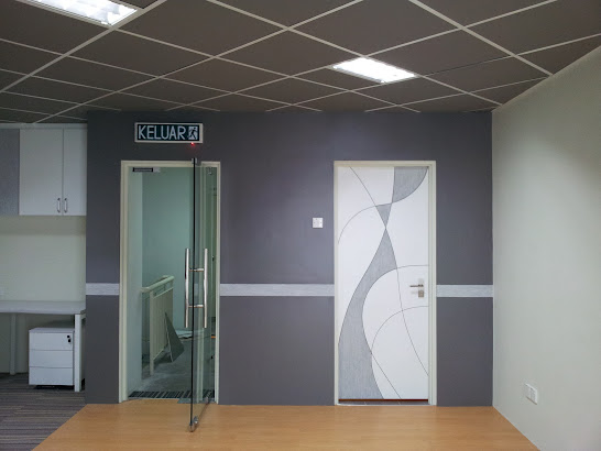 laminate wall panel with door