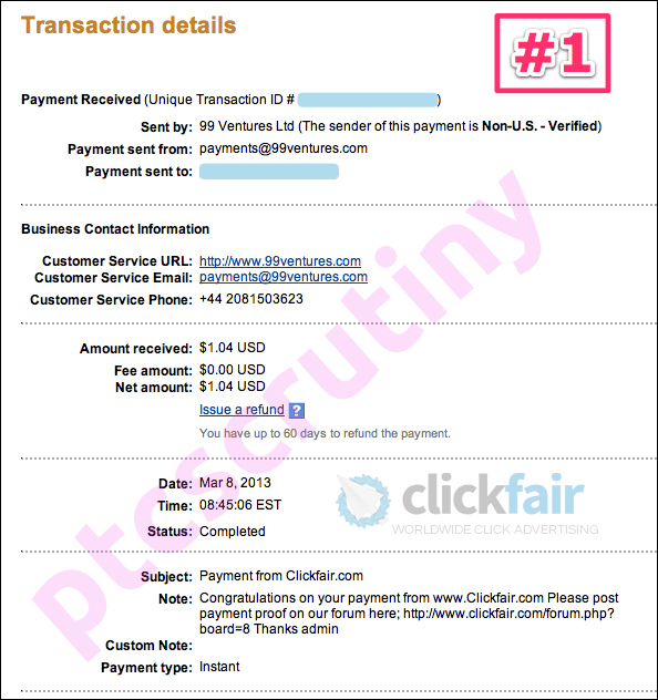 clickfair payment proof