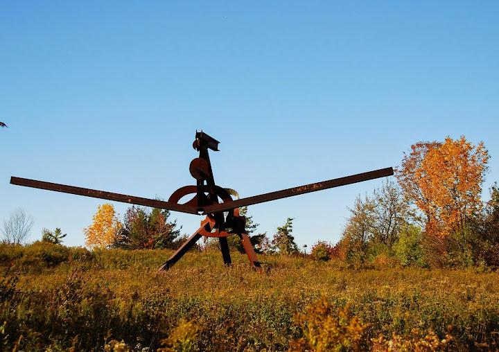 Mark di Suvero - Scarlatti. From Fall Color Weekend Getaway: Meijer Gardens & Sculpture Park