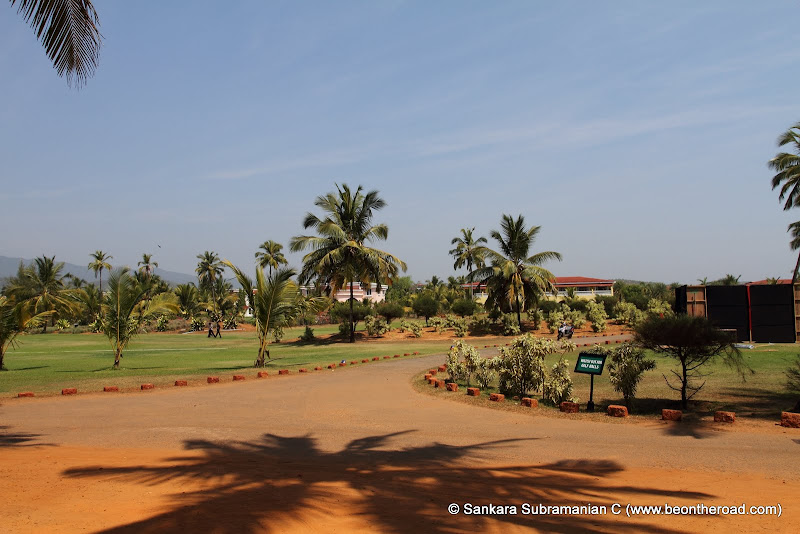 The sprawling campus of Intercontinental - the most luxurious hotel in South Goa
