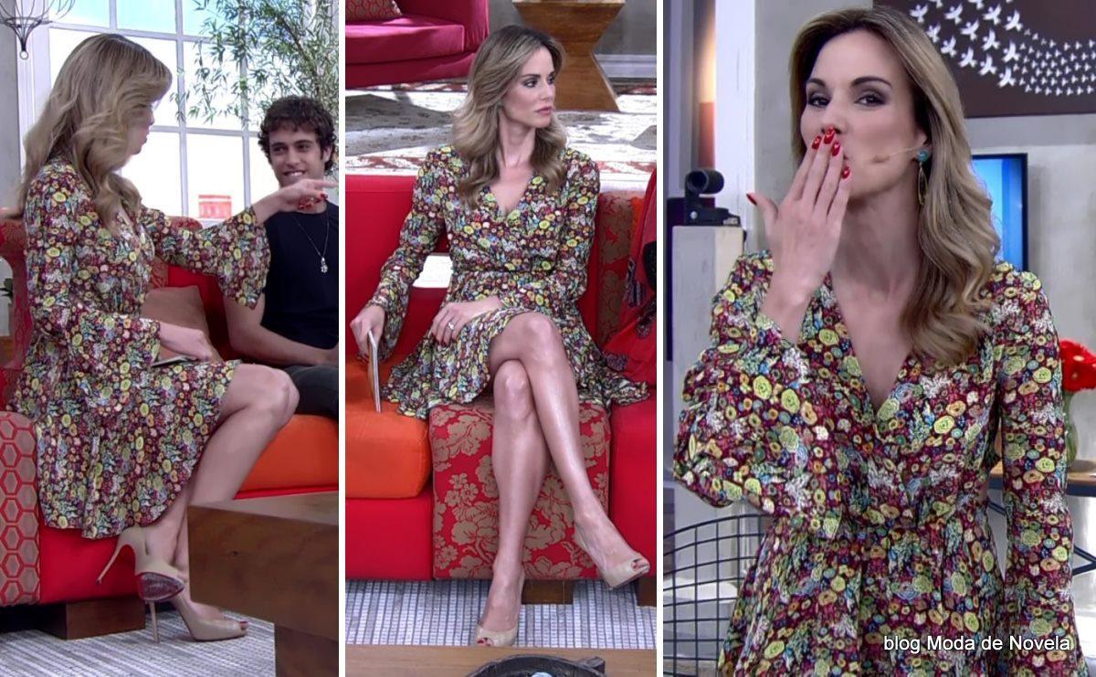 moda do programa Encontro - look da Ana Furtado dia 13 de maio
