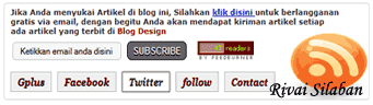 cara membuat subscribe box di halaman blog