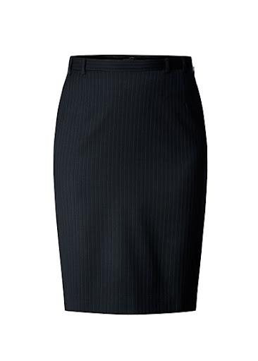 Mango Striped Pencil Skirt