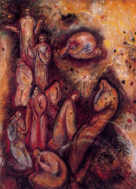 Albert Bloch - Figures on Dark Ground