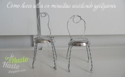 Cómo hacer mini sillas con tapones.