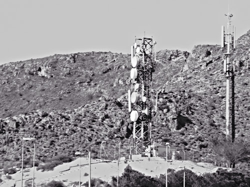 A telecoms tower
