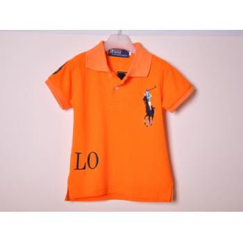 [B008]Boy Polo T-Shirt (Orange)