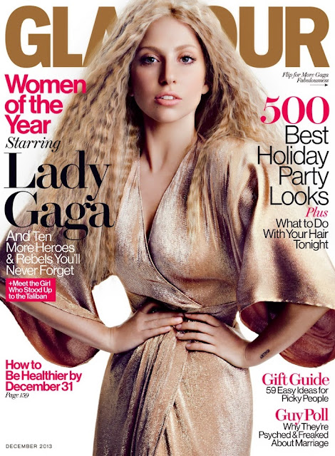 Lady Gaga Glamour Magazine Cover December 2013