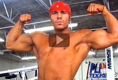 Bodybuilder Nick Soto Trains Biceps, Poses