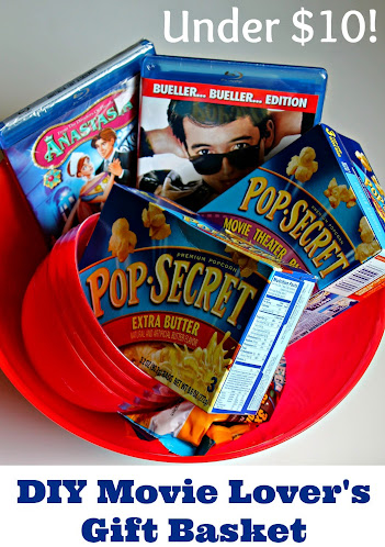 DIY Movie Lovers Gift Basket for Under $10
