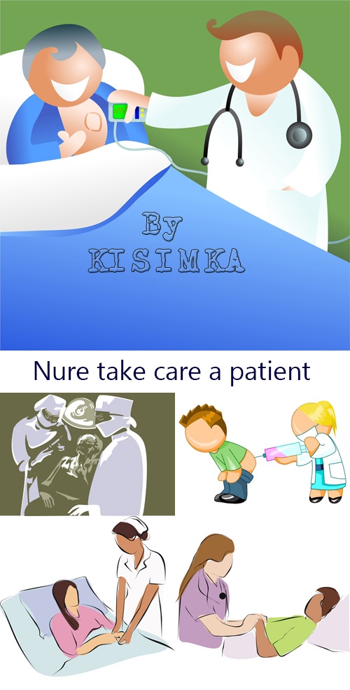 Stock Photo: Nure take care a patient