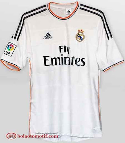 Jersey terbaru real madrid musim 2013/2014 Fly Emirates