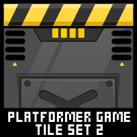 Robot Platformer Game Tile Set