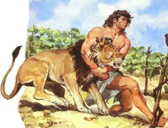 sansón y el león
