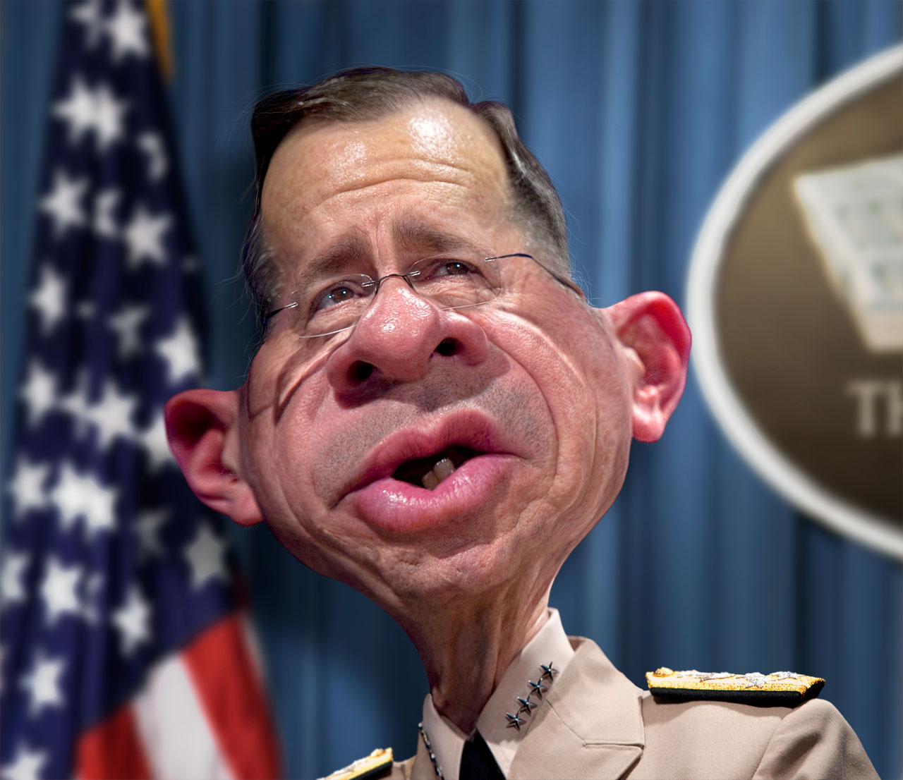 Tonight I'm posting the finished manipulated caricature of Admiral Mike Mullen, 17th Chairman of the Joint Chiefs of Staff. Most people probably don't know ... - Adm_Mike_Mullen_CJCS