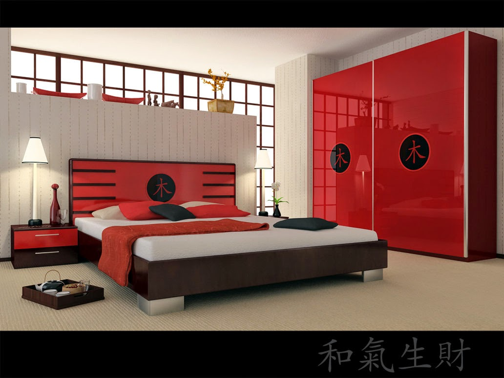 red bedroom pictures
