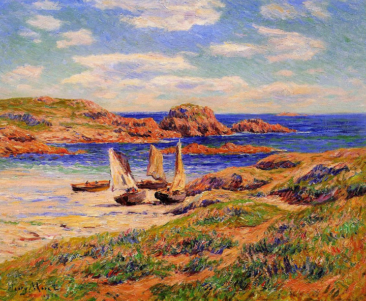 Henry Moret - Porspoder, the Port, Finistere, 1910