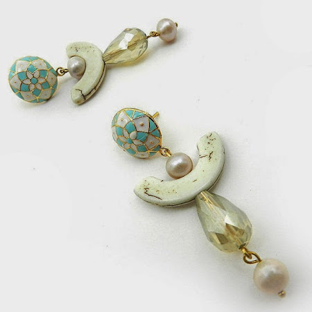Unusual Mint Earrings by Osofree Jewellery