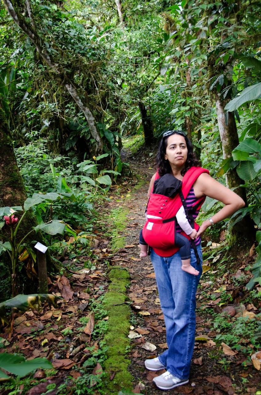 Nursing while hiking