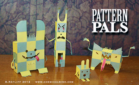Pattern Pals Paper Toy