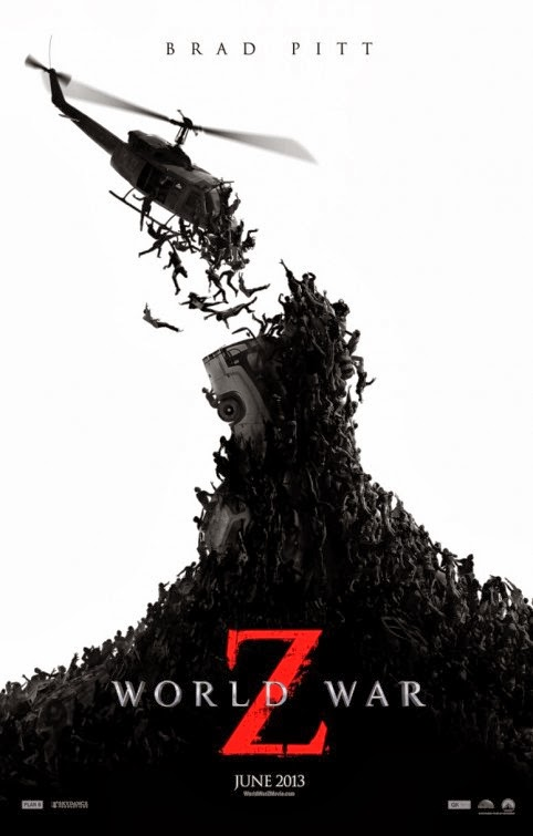 Poster Of World War Z (2013) Full Movie Hindi Dubbed Free Download Watch Online At Alldownloads4u.Com