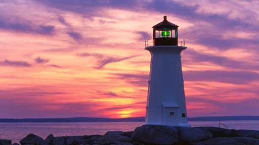 Lighthouse at Sunset, Peggy's Cove, Nova Scotia, Canada.jpg