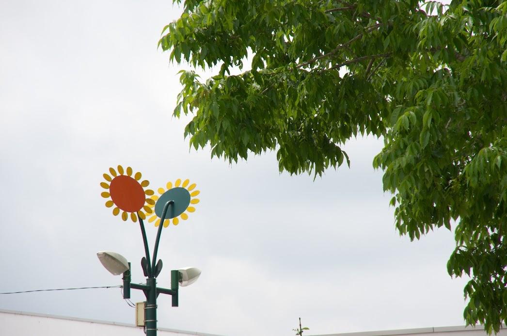 ひまわりの街灯
