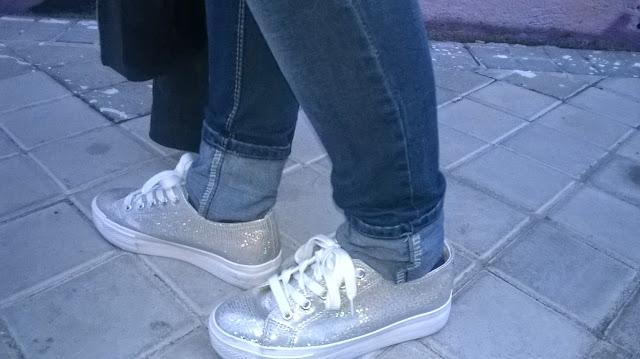 Zapatillas creeper color plata