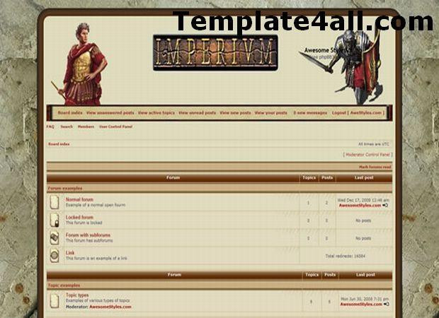 Free Imperial Phpbb Style Theme