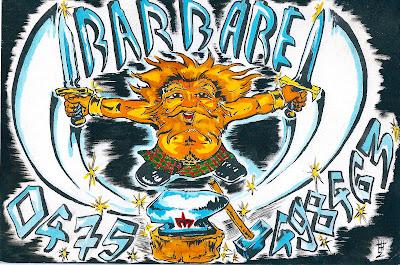 Carte de visite Barbare by Ben
