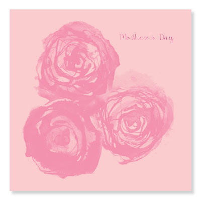 mother's day greetings - pink roses mother's day card